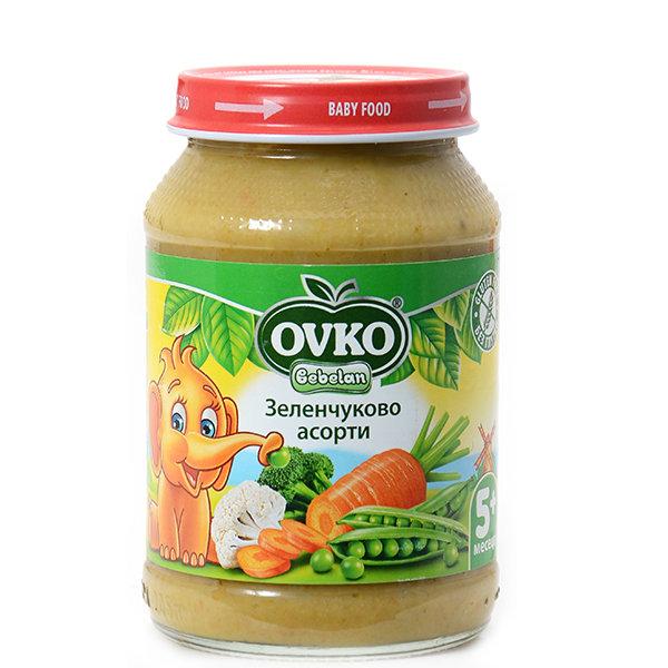 Овко Бебешко зеленчуково пюре Асорти 190 гр. 4м+ 7189